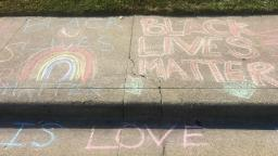 200807160712 02 white man erases black lives matter chalk trnd hp video