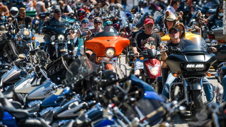 Hundreds of motorcyclists have already arrived for the 80th Sturgis Motorcycle rally in Sturgis, South Dakota.