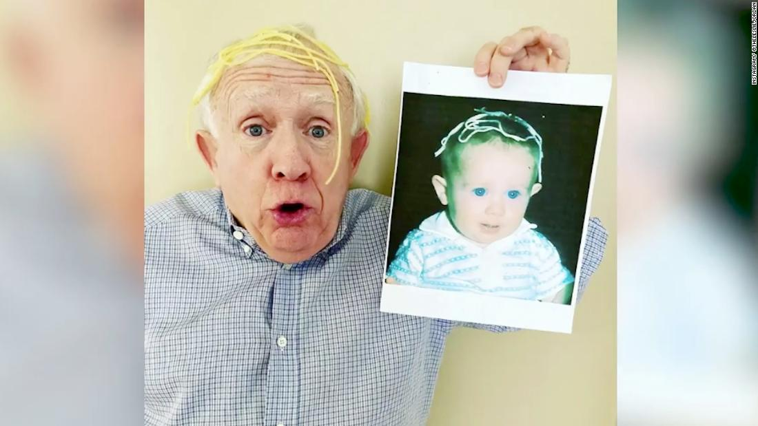 Anderson Cooper and Leslie Jordan look at actor's baby photos
