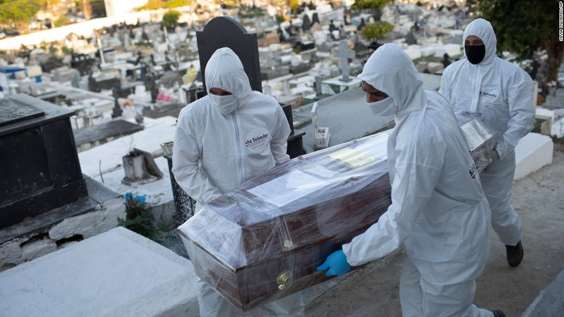Brazil passes 100,000 Covid-19 deaths, as cases top 3 million