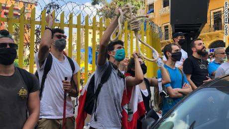 Grief and despair gave way to anger as thousands poured into Beirut's streets to demonstrate against the country's ruling politicians.