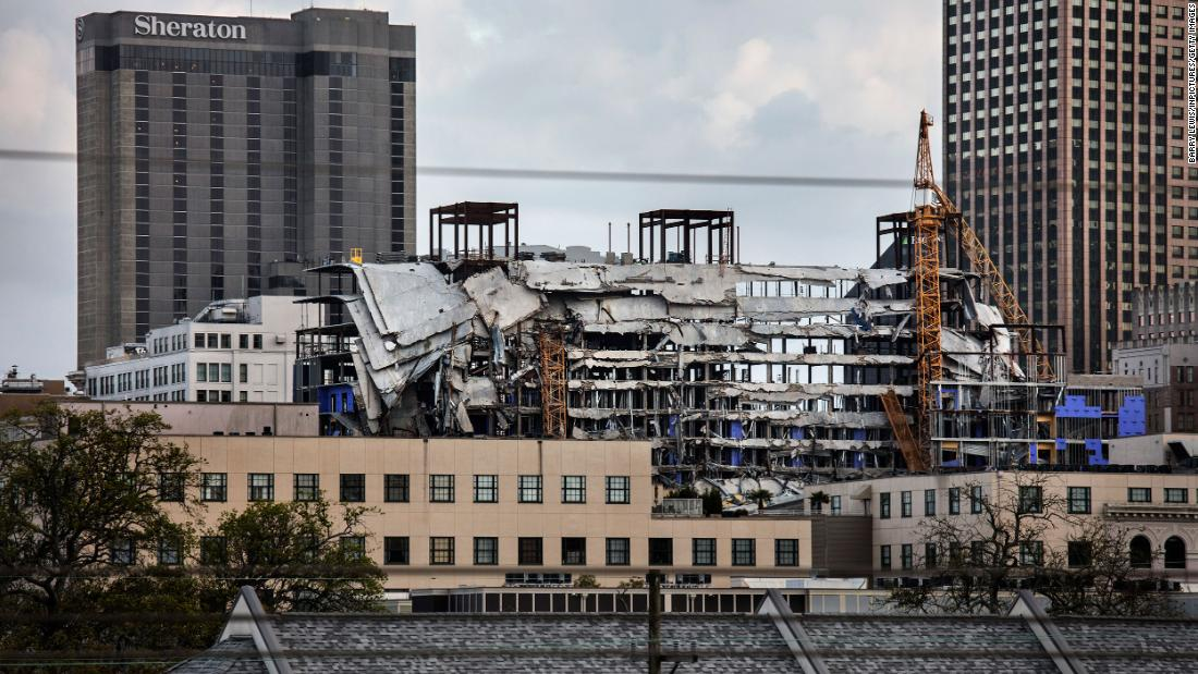Remains recovered from New Orleans hotel, almost 10 months after collapse