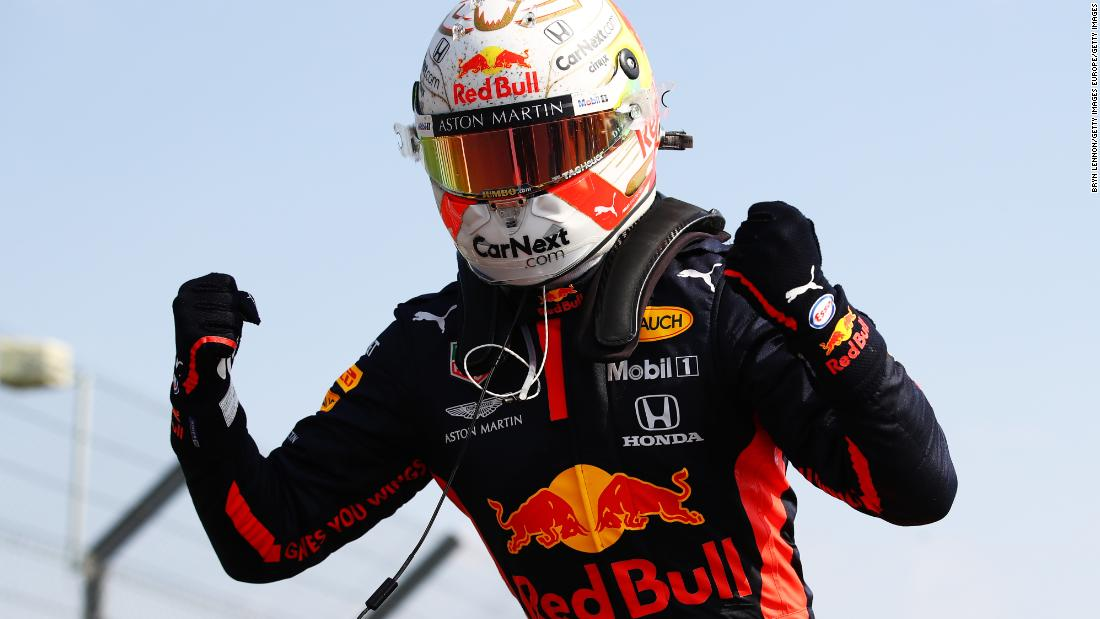 Verstappen outfoxes Mercedes duo to win anniversary Grand Prix