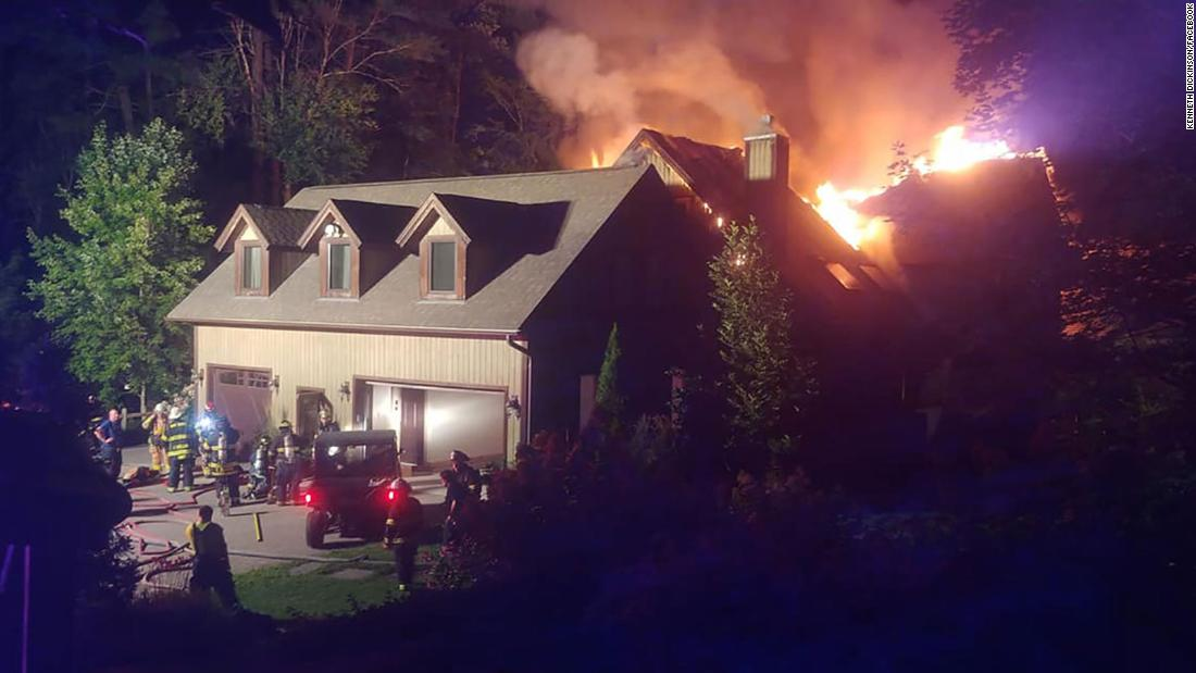 Firefighter describes fire at Rachael Ray's home - CNN VideoRachael Ray House Fire Drone