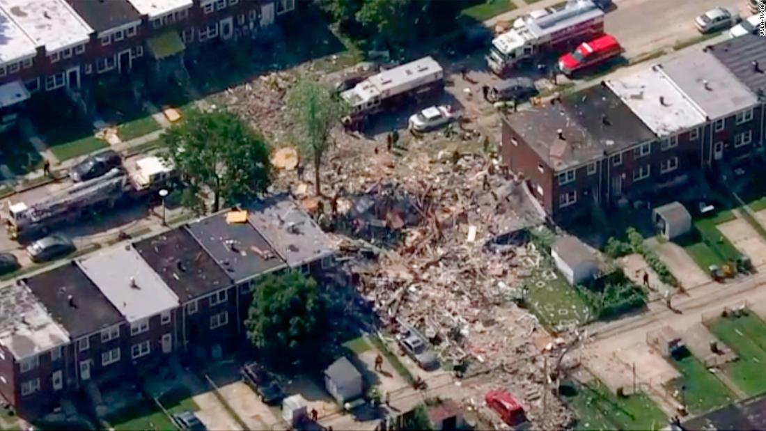 Houses explode in Baltimore, trapping people inside