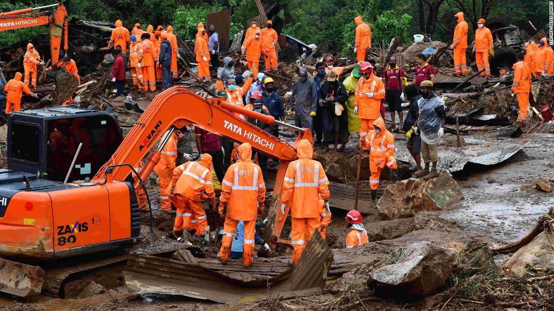 Monsoon rains trigger landslide in India, killing at least 43 people