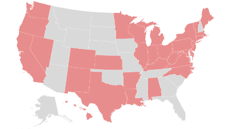 These are the states that require people to wear masks when appearing in public