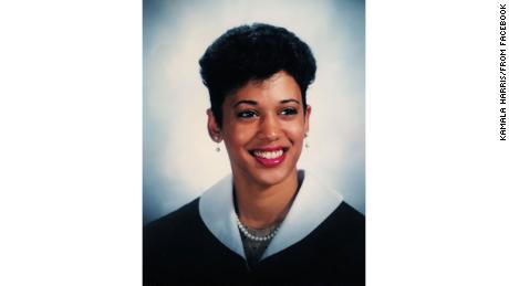 Kamala Harris as a Howard University student in the 1980s.