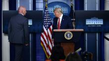 Fact check: Interrupted by shooting, Trump continues to spin false narrative around mail-in voting and coronavirus