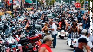 A person with Covid-19 may have exposed others at a bar during Sturgis motorcycle rally