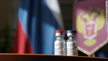 A handout photo released by Russian Healthcare ministry (Minzdrav) shows containers with a newly registered vaccine against coronavirus in Moscow, Russia on 11 August