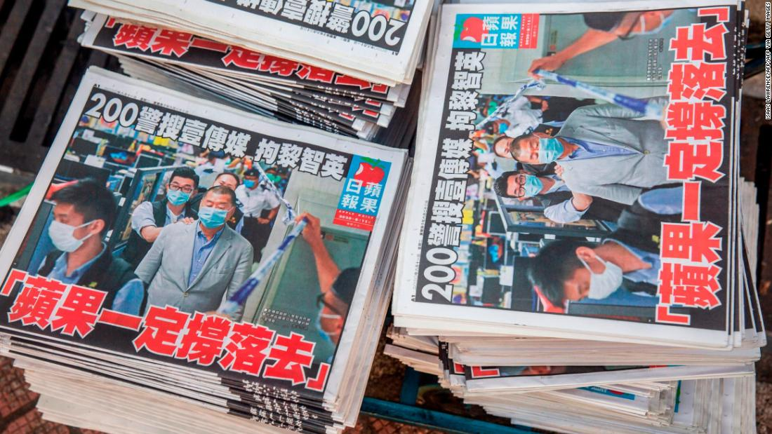 Hong Kong's biggest pro-democracy newspaper Apple Daily to close as Beijing tightens its grip