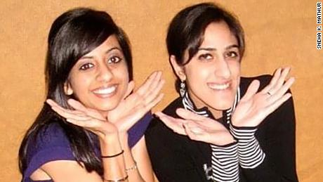 Nima Bhakta (L) and author Sneha Kohli Mathur (R) became roommates and friends at the University of California San Diego.
