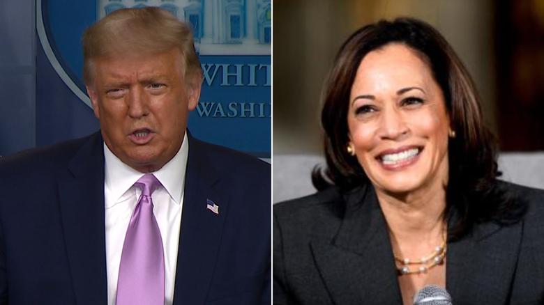 Trump on Biden's VP pick: Harris was my 'number one draft pick'