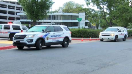 Several police cars were parked outside the medical center in Shreveport on Wednesday morning.
