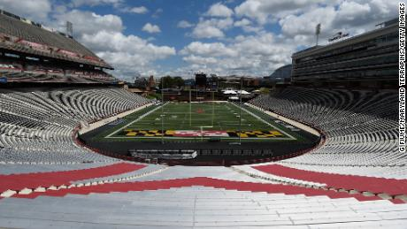 A general view of Maryland Stadium on August 4, 2020 in College Park, Maryland.  (Photo by G Fiume/Maryland Terrapins/Getty Images)