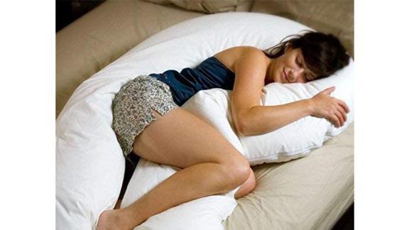 Almohada de apoyo al embarazo corporal total Comfort-U a la luz de la luna