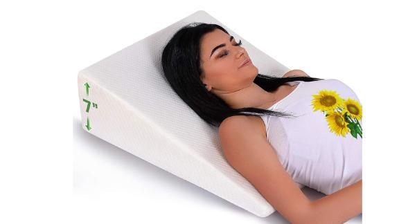 Almohada de cuña de cama Abco Tech con tapa de espuma de memoria