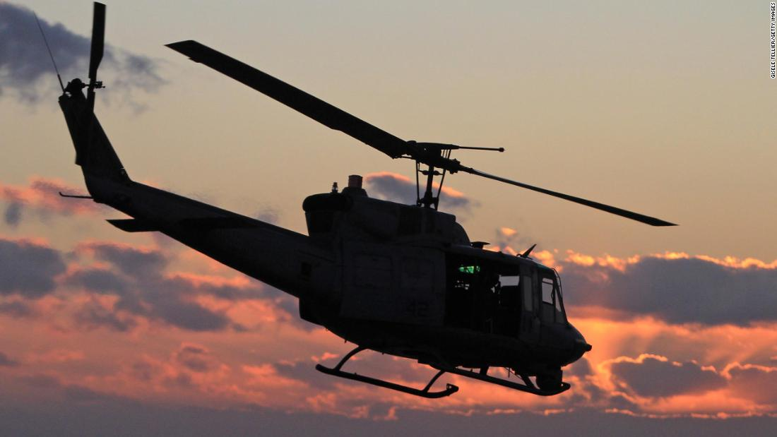 Military helicopter shot at over Virginia, injuring a crew member - CNN