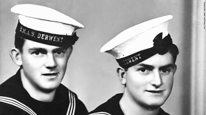 """Edward """"Teddy"""" Sheean, right, was an ordinary seaman serving on HMAS Armidale whose death during a Japanese aerial attack on his ship has become a well-known episode in Australian Second World War lore."""