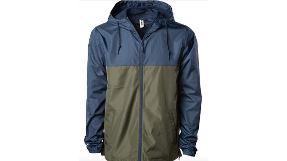 Global Blank Lightweight Windbreaker With Water-Resistant Shell
