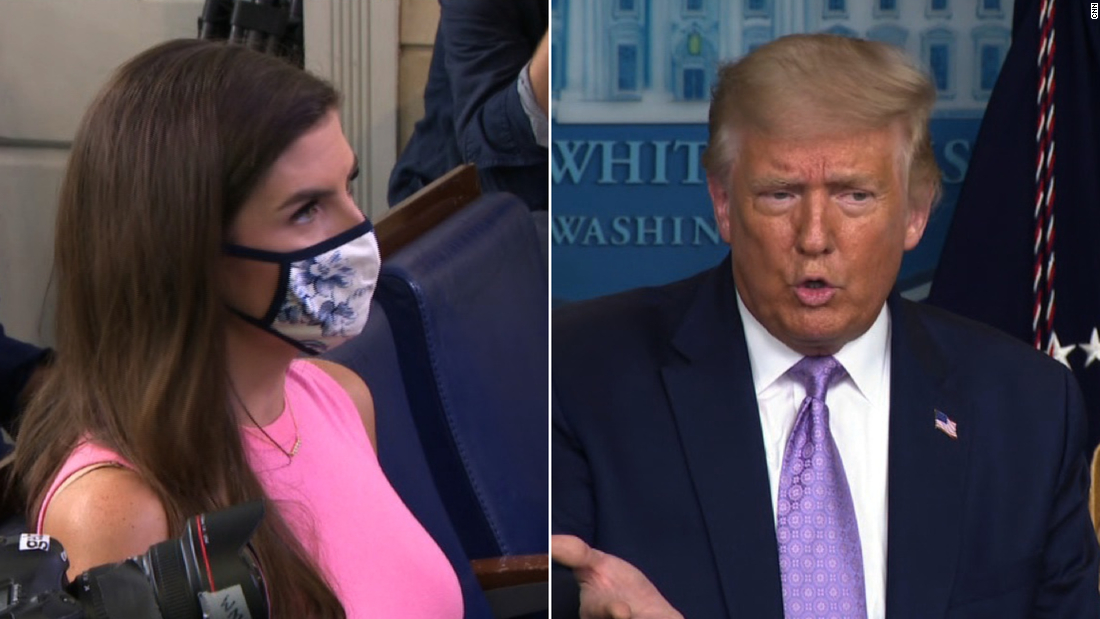 Kaitlin Collins pushes Donald Trump on USPS money and mail-in ballots - CNN Video