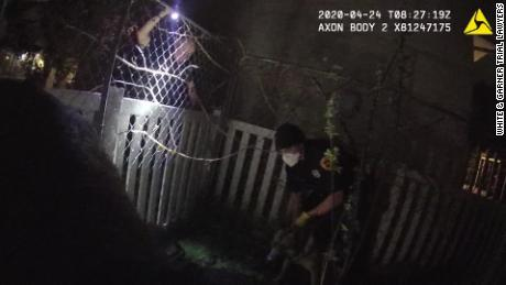 Footage of the body camera video from the incident involving a police dog attacking Jeffery Ryans.