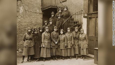 The First Contingent of the Women's Oversea Hospitals, Supported by the National American Woman Suffrage Association, 1918