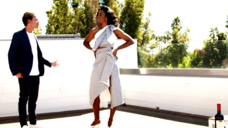 James Harris shows a home to Kelly Rowland in an episode of Bravo's 'Million Dollar Listing: Los Angeles'
