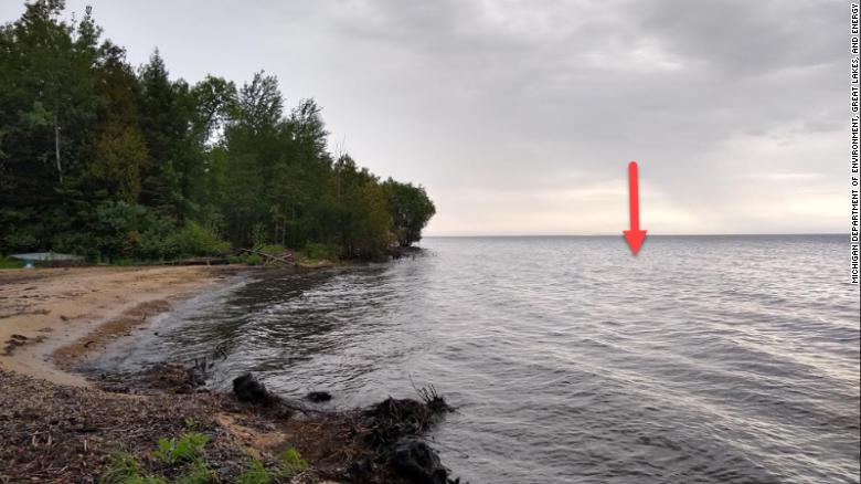 A drone fell from 160 feet and splashed down into Lake Michigan, state officials said. It was attacked by an eagle shortly before its splash landing.