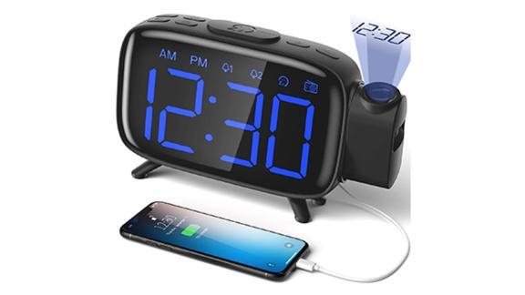 Elehot Projection Alarm Clock Radio