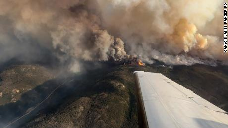This photo captures the Cameron Peak flame from above on Thursday, August 13.