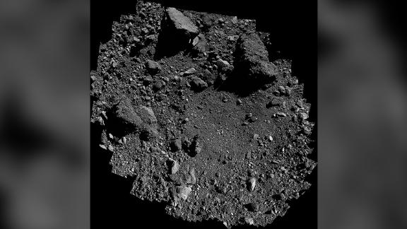 This view of sample site Nightingale on asteroid Bennu is a mosaic of images collected by the OSIRIS-REx spacecraft.