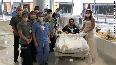 Nurses in a San Antonio hospital organize a patient's wedding to help lift his spirits