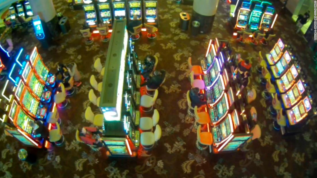 A 12-year-old girl was caught on camera gambling at an Australian casino