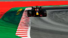 Verstappen drives at the Circuit de Catalunya in Barcelona during the Spanish Grand Prix.