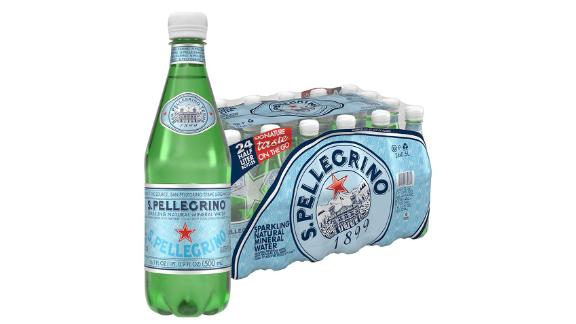 S.Pellegrino Sparkling Natural Mineral Water, 24-Pack