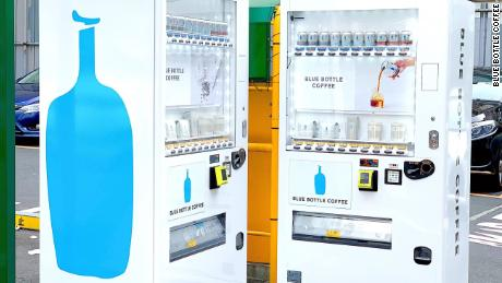 Blue Bottle Coffee's new vending machines in Tokyo. The company says it could expand the idea if they are successful.