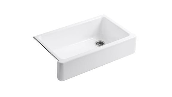Kohler Whitehaven Self-Trimming Farmhouse Kitchen Sink