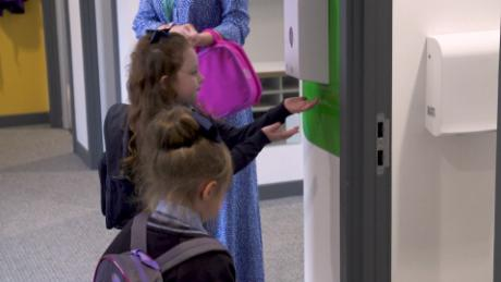See the precautions a Scottish school is taking as children return to class