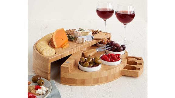 Compact Swivel Cheese & Tapas Board