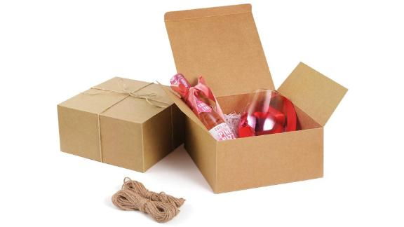 ValBox Gift Boxes With Twine, 12-Pack