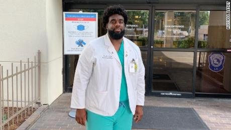 A Black medical student is working the front lines of the pandemic at the same hospital where he once was a security guard