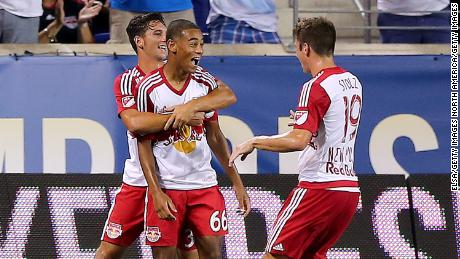 Tyler Adams (center) played for New York Red Bulls before joining RB Leipzig in 2019.