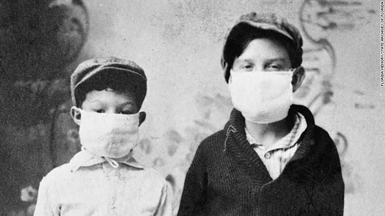 Don Hoover and Joe Sistrunk of Starke, Florida, are ready for school during the 1918 flu outbreak.