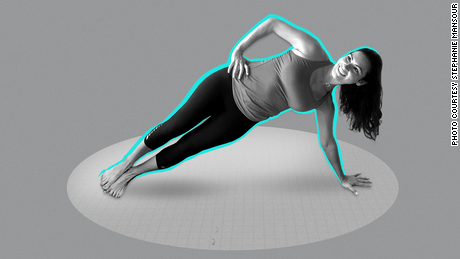 "PBS host Stephanie Mansour of ""Step It Up With Steph"" shares a routine that will improve your balance and your state of mind. Here, she sets up an extended side plank."