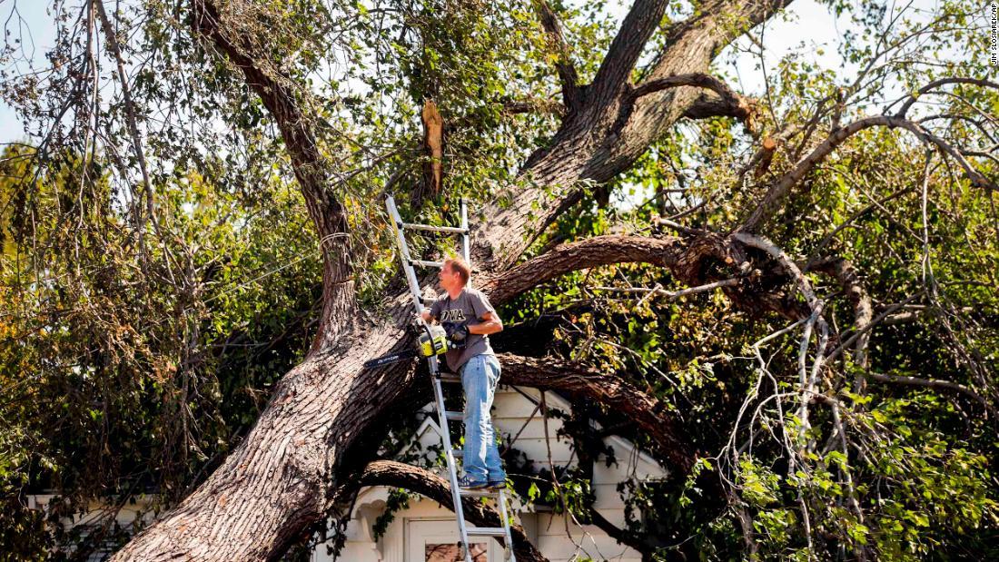 Iowans are still without power a week after powerful derecho storm – CNN