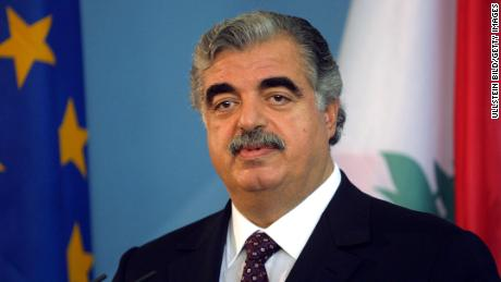 Former Lebanese Prime Minister Rafik Hariri, pictured circa 2001, was killed in a 2005 bomb blast.