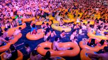 Thousands of revelers gathered at an open air water park in the Chinese city of Wuhan, ground zero of the pandemic, for an electronic music festival in August.