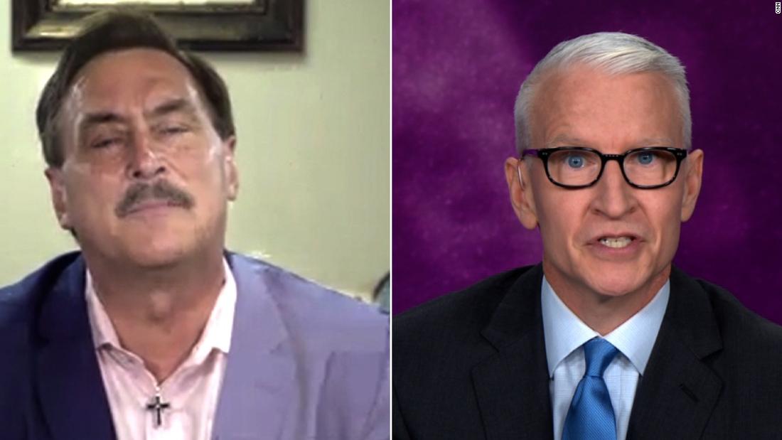 Anderson Cooper Clashes With Mypillow Creator Over Unproven Therapeutic Cnn Video